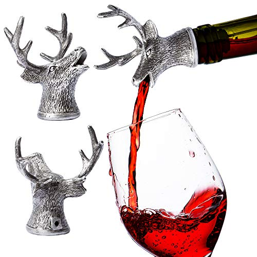 Stainless Steel Deer Wine Pourer & Aerator (Sellers other than DW Design Co are Fraudulent selling different product)