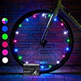 Activ Life LED Bicycle Wheel Lights (1 Tire, Rainbow) Best Xmas Gifts for Kids - Top Secret Santa X-mas of 2018 Popular Children Bike Toys - Hot Child Bday Party Outdoor Family Fun Regalos de Navidad