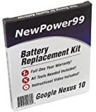 Battery Kit for Google Nexus 10 with Battery, Video and Tools from NewPower99