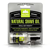 Pacific Shaving Company Natural Shaving Oil - Helps Eliminate Shaving Nicks, & Razor Burn, Soothes & Moisturizes Skin, Reduces Irritation, with Safe, Natural & Organic Ingredients, Made in USA, .5 oz
