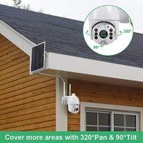 Solar-Security-Camera-OutdoorYeoman-1080P-Wireless-Wi-Fi-Spotlight-Home-Surveillance-with-Pan-Tilt-Rechargeable-BatteryTwo-Way-TalkPIR-Motion-RecordingCloud-StorageSD-Slot