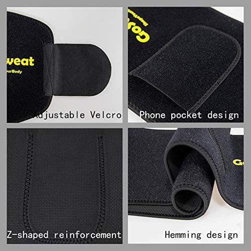 GoSweat Waist Sweat Trainer with Pocket, Plus Size Trimmer Belt for Women & Men, Slimming Band, Belly Wrap for Weight Loss, Stomach Fat Burner, Workout 3