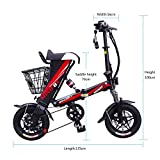 MEIYATU E-Bike – Folding Electric Bicycle with 15-18 Mile Range, E-Bike Scooter 250W Powerful Motor Collapsible Frame 36V