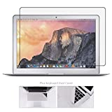 Tempered Glass Screen Protector for MacBook Air 13 Inch Model A1369 A1466 + Large Cleaning Cloth, Bubble Free, 99.9% Transparency Not Reduce The Screen Brightness (Not for Newest Mac Air 13 A1932)