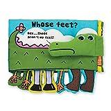 Melissa & Doug Soft Activity Book - Whose Feet (Developmental Toys, Easy-to-Read Text, Dangly Feet, Machine Washable)