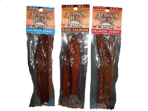 Alaska Smoked King Salmon Jerky Sampler (3 Pack)