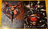 Two Superman Man of Steel Paper Portfolio Folders - Back to School