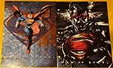 Two Superman Man of Steel Paper Portfolio Folders - Back to School