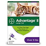 Bayer Animal Health Advantage II Flea Prevention Large Cats, Over 9 lbs, 4 doses