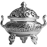 Aromatherapy Stove Silver Mini Incense Burner Handmade Vintage Jewelry Perfume Outlet Family Buddha Statue Silver Incense Burner Funeral Urn 827