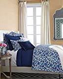Ralph Lauren Dorsey Twin Quilted Coverlet - Blue and White