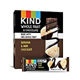 Pressed by KIND Fruit Bars, Chocolate Banana, No Sugar Added, Gluten Free, 1.34 Ounce (12 Count)