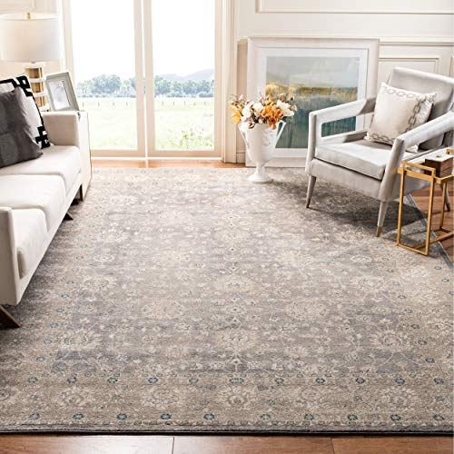 Safavieh Sofia Collection Vintage Light Grey and Beige Distressed Area Rug (8' x 11')
