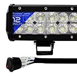 OPT7 C2 Series 12' Off-Road CREE LED Light Bar and Harness (Flood/Spot Auxiliary Lamp Combo 6000 lumen)