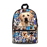 FOR U DESIGNS Funny 3D Dogs Printing Cotton Backpacks Casual Daypack Satchel
