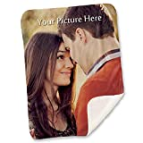 Custom Full Color Photo Throw Blanket with Your Picture or Name - Adult Baby Blanket Gift (51'x63')