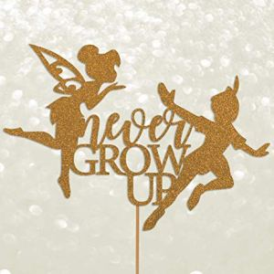 PETER PAN never grow up fairy tinkerbell cake topper 500gsm thick glitter cardstock 51RaIfYp6uL