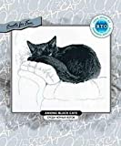 Zamtac Gold Collection Lovely Counted Cross Stitch Kit rto Among Black Cats Cat Kitten Kitty on Sofa Bed White Quilt - (Cross Stitch Fabric CT Number: 18CT unprint Canvas)