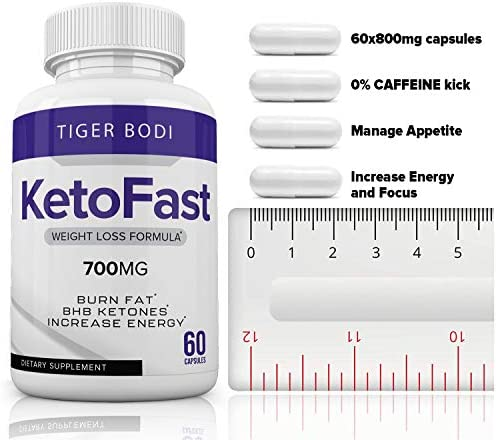 Keto Fast Diet Pills, Keto Fast Burn Weight Management Capsules 700 mg, Pure Keto Fast Supplement for Energy, Focus - BHB Ultra Boost Exogenous Ketones for Rapid Ketosis for Men Women 6