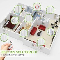 PANNOVO-Wireless-Home-Security-Alarm-System-Door-Alarm-System-for-Home-DIY-Kit-App-Control-by-iOS-Andrioid-Smartphone-with-PIR-Motion-SensorDoor-Contact-Sensor-White