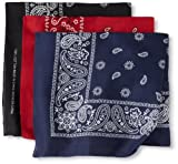 Levi's Men's 100% Cotton Bandana Headband Gift Sets, Assorted, One Size