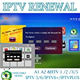 16-Digit Renew Code for HTV 1 2 3 5 / A2 / A1 / IPTV 5 6 / IPTV5+Plus IPTV Brazil / Brazilian Renewal/ Portuguese TV Box Subscription Service Valid for 400 Days