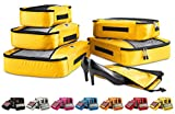 5 Piece Packing Cube Set - Inludes Free Shoe Bag (Yellow)