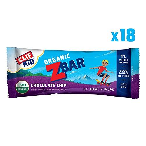 CLIF KID ZBAR - Organic Energy Bar - Chocolate Chip - (1.27 Ounce Snack Bar, 18 Count)