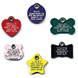 LuckyPet Durable Plastic Pet ID Tag - Outlasts Aluminum Tags for The Same Price - Custom Engraved - Large Blue Cat