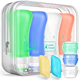 Travel Bottles TSA Approved Containers, 3oz Silicone Leak Proof Travel Accessories Toiletries and Camping Accessories