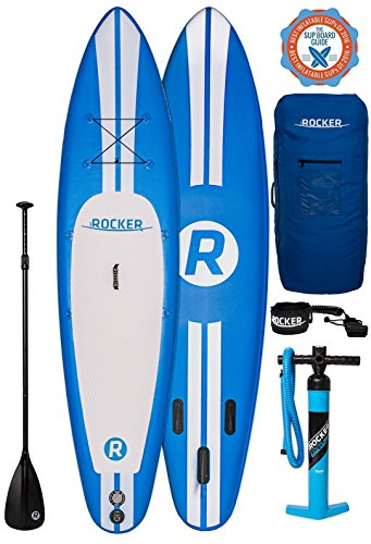 "iROCKER Paddle Boards Inflatable 10' 6"" Thick SUP Package (Blue + Leash)"