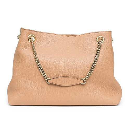 6f23a61e50e Gucci Camelia Camel Pebbled Leather Soho Shoulder Hand Bag Tassel ...