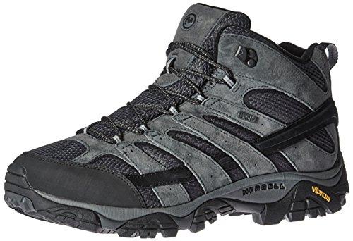 Merrell Men's Moab 2 Mid Waterproof Hiking Boot, Granite, 10.5 M US