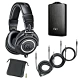 Audio-Technica ATH-M50x Monitor Headphones (Black) (with Amp)