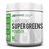 AMRAP Nutrition Organic Supergreens Powder - Blend of 11 Super Green Juices to Increase Stamina, Strengthen Immune System and Maintain Healthy PH Levels - Rich in Micronutrients
