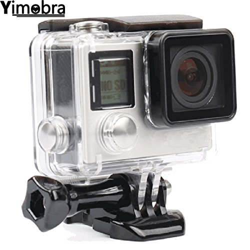 Yimobra Waterproof Gopro Hero 4 Housing for Protective Rotective Underwater Dive Hero 4 3+ Case Transparent