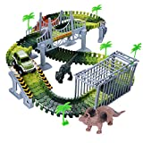 Toys for 3-8 Year Old Boys, WIKI Dinosaur Toys for Boys Age 3-8 Race Car Track for Kids Toddlers Christmas Birthday Gifts Presents for 3-12 Year Old Boys Girls Xmas Stocking Stuffers Fillers WKUSGD01