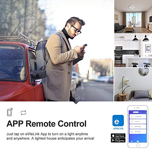 SONOFF-Basic-R2-10A-Smart-WiFi-Wireless-Light-Switch-Universal-DIY-Module-for-Smart-Home-Automation-Solution-Works-with-Amazon-Alexa-Google-Home-Assistant-Works-with-IFTTT-No-Hub-Required