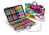 Crayola Inspiration Art Case In Pink, Portable Art & Coloring Supplies, 140Piece, Gift for Kids