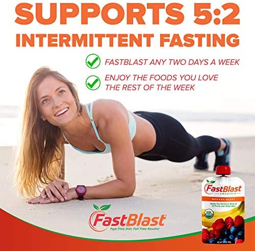FastBlast Banana-Berry Smoothie. Supports Intermittent Fasting. Controls Appetite and Maintains Energy. USDA Certified Organic, Vegan, Non-GMO, Soy Free & No Added Sugar (12 Units) 4