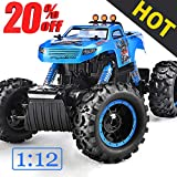 NQD Remote Control Trucks Monster RC Car 1:12 Scale Off Road Vehicle 2.4GHz Radio Remote Control Car 4WD High Speed Racing All Terrain Climbing Car Gift for Boys