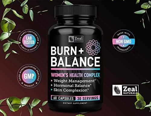 Weight Loss Pills for Women + Daily Balance Vitamins (Iron, Vitamin D, Setria®, Folate,+) Premium Diet Pills for Women + Womens Multivitamin with Iron, D & B Vitamins & Hormone Balance for Women 8
