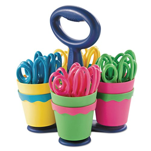 ACM14756 - Stainless Steel - Westcott Scissor Caddy with 24 Kids' Scissors with Microban Protection - Each