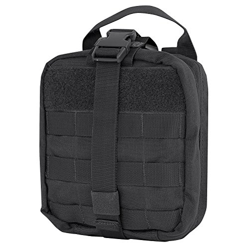 Condor Rip-Away EMT Pouch (Black, 8 x 6 x 3.5-Inch)