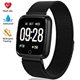 Fitness Tracker - Activity Tracker with Step Counter - Waterproof SmartWatch with Heart Rate Monitor - Fit Watch Sleep Monitor Step Counter for Android & iPhone