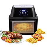 Homgrace Air Fryer Oven, 16.91QT 1800W Electric Air Fryer with LED Digital Screen Countertop Oven With 8 Preset for Home Kitchen (Black 1800A)