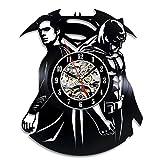 Superman Vs Batman Vinyl Clock Perfect Christmas Gift