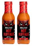 Noble Made by The New Primal, Hot Buffalo Dipping and Wing Sauce, Whole30 and Paleo Approved, 12oz, Pack of 2