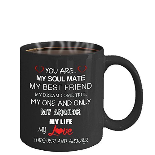 Ill Love You Forever Mug True Love Wife Husband Partner Fiance Boyfriend Girlfriend Coffee (black)