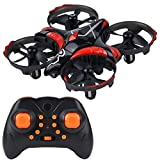 Mini Quadcopter Drone for Kids or Adults - 6 Year Old Gift Micro Interactive Hand Sensing Drone, Remote Control Helicopter Headless Mode 3D Flip One Key Return (Black)